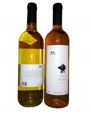 Κρασί Λευκό Ημίγλυκο Σαββατιανό Μοσχάτο Αμπελάκι