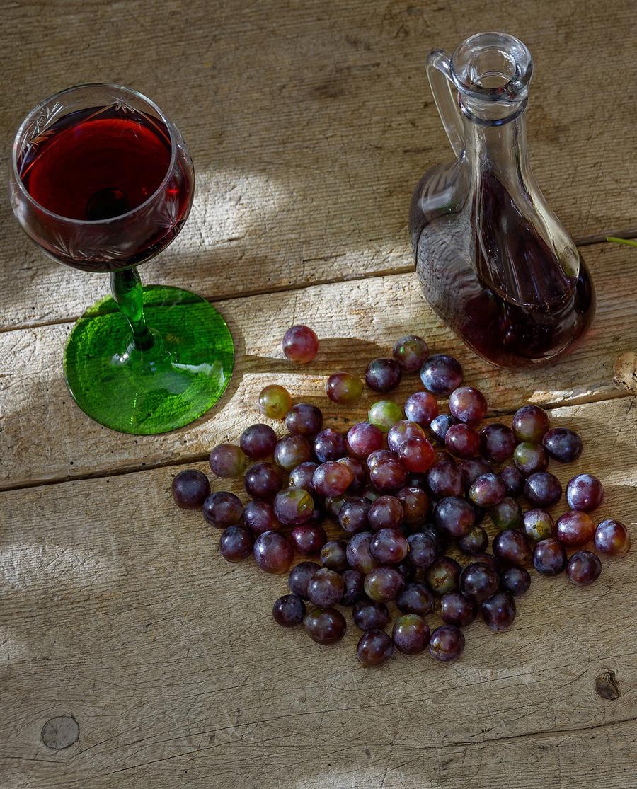 Μανδηλαριά Κόκκινο Ημίγλυκο Κρασί Σαντορίνης