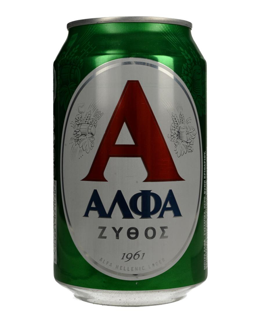 Μπύρα Ξανθιά ΑΛΦΑ ΖΥΘΟΣ Lager 330ml
