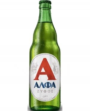 Μπύρα Ξανθιά ΑΛΦΑ ΖΥΘΟΣ Lager 0.5lt