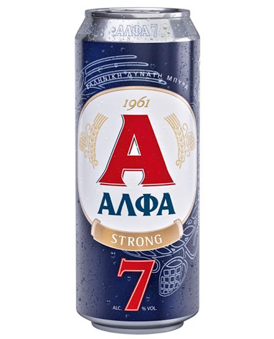 Μπύρα Ξανθιά ΑΛΦΑ STRONG Lager 0.5lt
