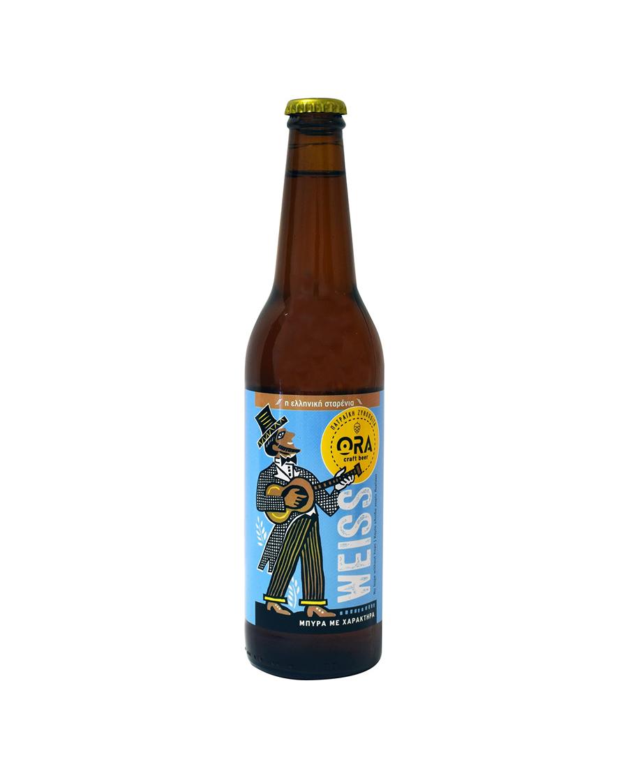 Μπύρα Ξανθιά ORA WEISS Απαστερίωτη 0.5lt